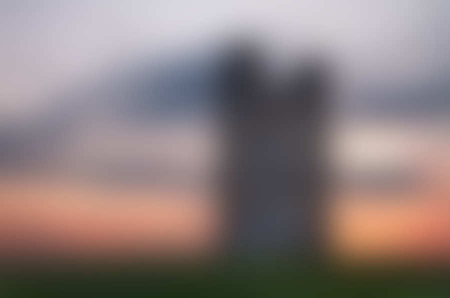 Broadway Tower at dusk in Cotswolds, UK